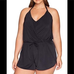 Kenneth Cole Reaction NWT Romper Swimsuit, 1X